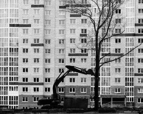 Photograph - Hitachi Digger Destroys A Tree by John Williams