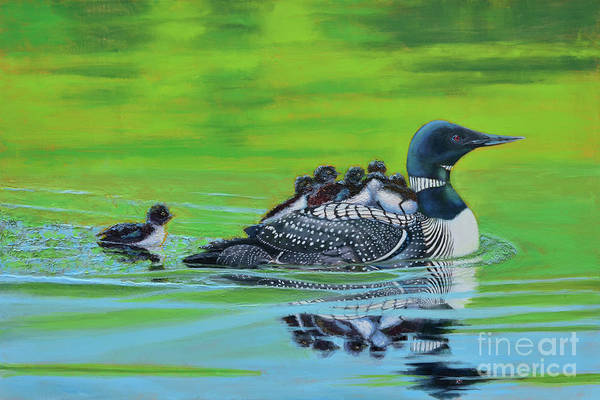Water Foul Painting - Hitch Hikers by Toni Wolf