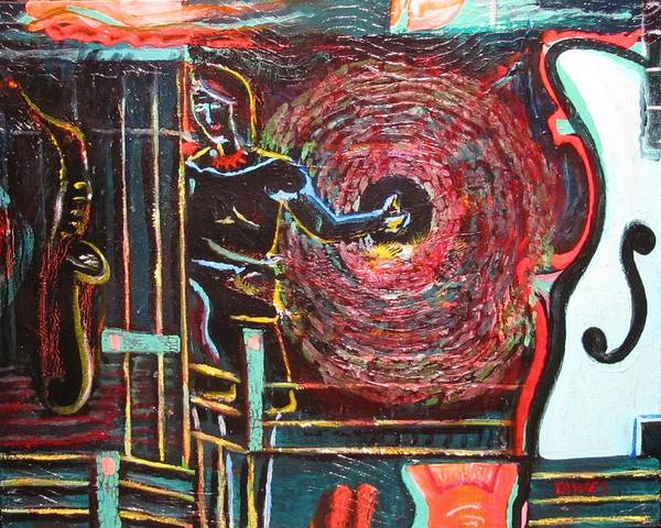 Painting - Hitchhiking Through Sound by Dennis Tawes