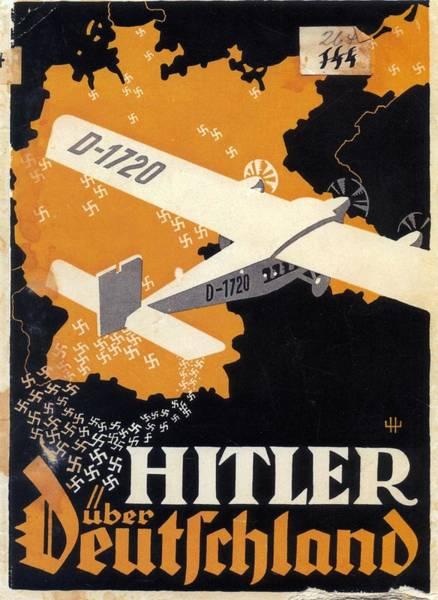 Wall Art - Mixed Media - Hitler Uber Deutschland, Germany - Retro Travel Poster - Vintage Poster by Studio Grafiikka