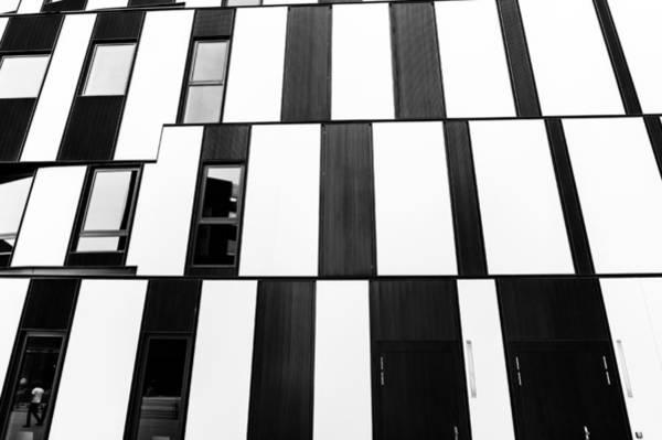 Photograph - Hitoshi Abe Facade Detail 3 Wu Campus Vienna  by Menega Sabidussi