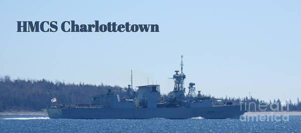 Battle Of The Atlantic Wall Art - Photograph - Hmcs Charlottetown Poster by John Malone