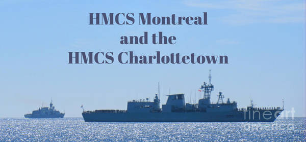 Battle Of The Atlantic Wall Art - Painting - Hmcs Montreal And Hmcs Charlottetown by John Malone