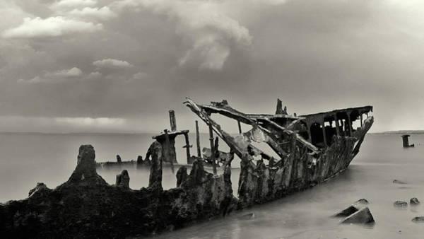 Photograph - Hmqs Gayundah Black And White by Nicholas Blackwell