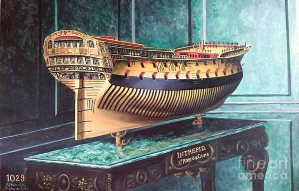 Wall Art - Painting - Hms Intrepid Stern 1775 by Richard John Holden RA