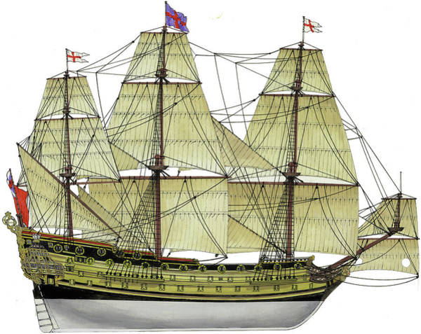 Wall Art - Painting - Hms Prince by The Collectioner