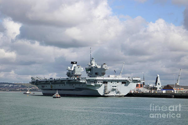 Photograph - Hms Queen Elizabeth II by Julia Gavin