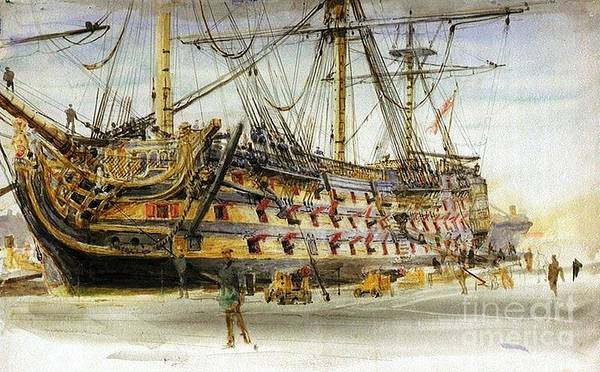 Wall Art - Painting - Hms Victory 1822 2nd Edition by Richard John Holden RA