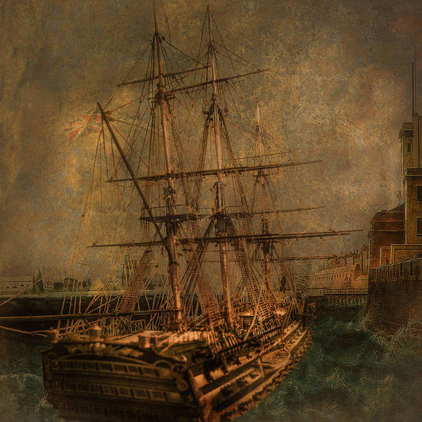 Wall Art - Photograph - Hms Victory At Portsmouth by Jeff Burgess