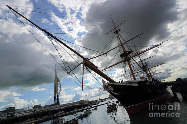 Photograph - Hms Warrior At Portmouth Historic Dockyard by Julia Gavin