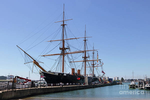 Photograph - Hms Warrior Portsmouth  by Julia Gavin