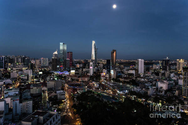 Photograph - Ho Chi Minh City Cityscape At Night by Didier Marti