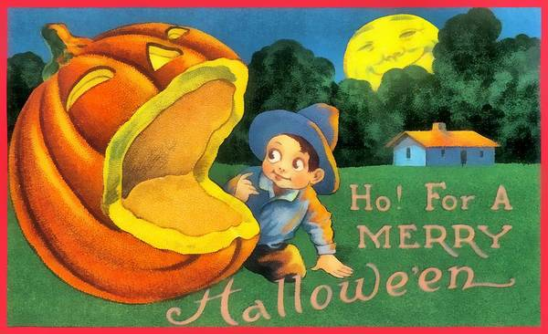 Photograph - Ho For A Merry Halloween by Unknown