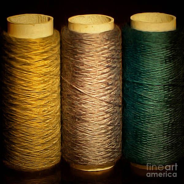 Photograph - Hobby Sewing Thread 20170913 by Wingsdomain Art and Photography