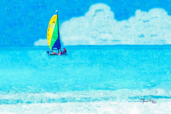Photograph - Hobie Sailing Off Lido Beach Coast by Susan Molnar