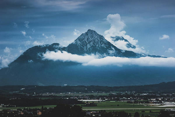 Photograph - Hochstaufen And Zwiesel Mountain Peaks by Andy Konieczny