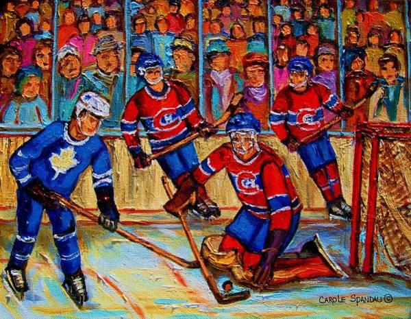 Painting - Hockey  Hero by Carole Spandau