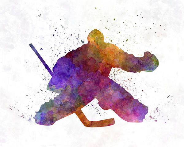 Wall Art - Painting - Hockey Porter In Watercolor by Pablo Romero