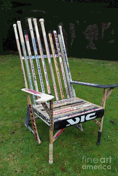 Photograph - Hockey Stick Chair by Bill Thomson