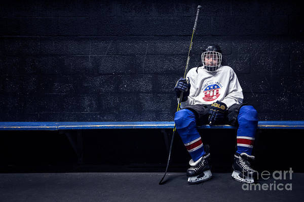 Gears Photograph - Hockey Strong by Evelina Kremsdorf