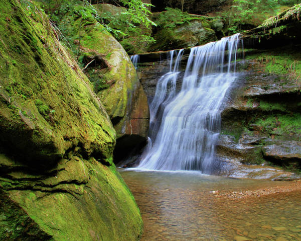 Photograph - Hocking Hills Hidden Falls In Spring by Dan Sproul