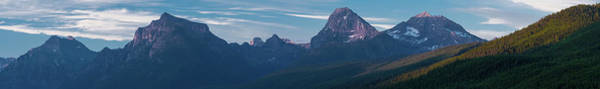 Wall Art - Photograph - Howe Ridge Glacier National Park by Steve Gadomski
