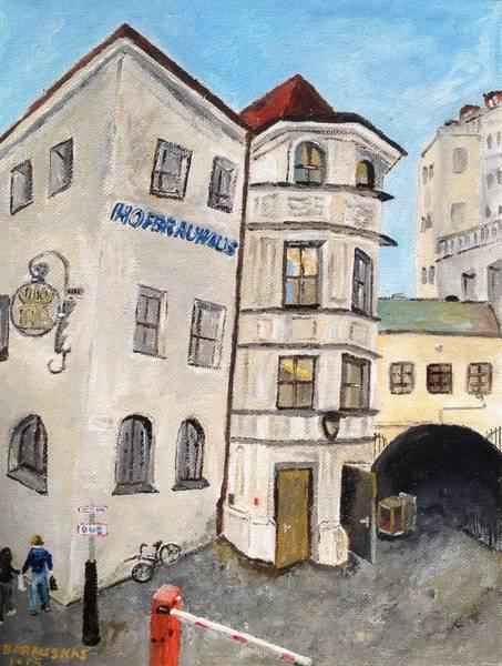 Bier Painting - Hofbrauhaus  by Andrea Barauskas