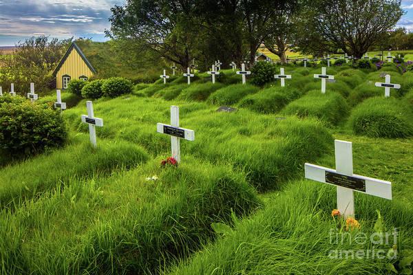 Wall Art - Photograph - Hofskirkja Cemetery by Inge Johnsson