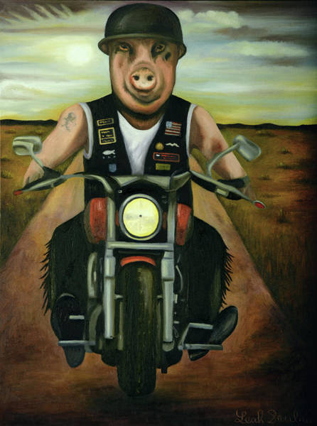 Painting - Hog Wild by Leah Saulnier The Painting Maniac