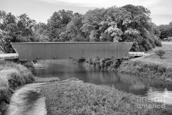 Photograph - Hogback Water Crossing Black And White by Adam Jewell