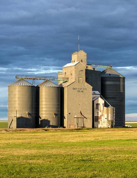 Photograph - Hogeland Grain Elevator by Todd Klassy