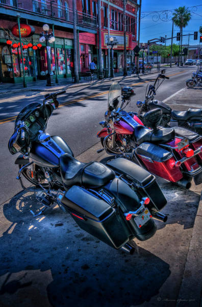 Street Machine Photograph - Hogs On 7th Ave by Marvin Spates