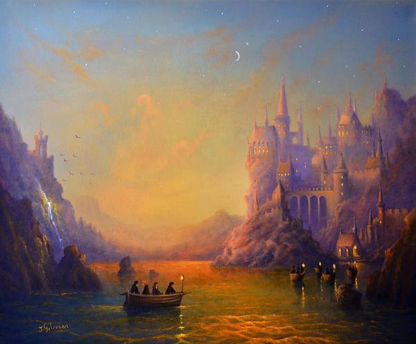 Snape Wall Art - Painting - Hogwarts Castle by Ray Gilronan