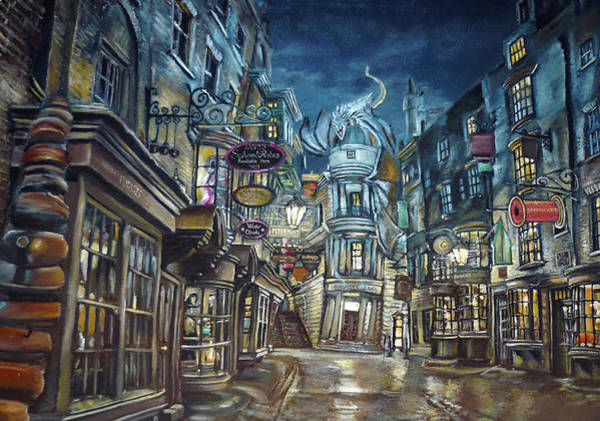 Wall Art - Digital Art - Hogwarts Diagon Alley  by Midex Planet