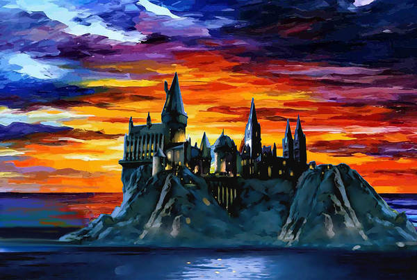 Wall Art - Digital Art - Hogwarts Sunset by Midex Planet