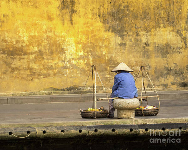 Photograph - Hoi An Tan Ky Wall Hawker 20 by Rick Piper Photography