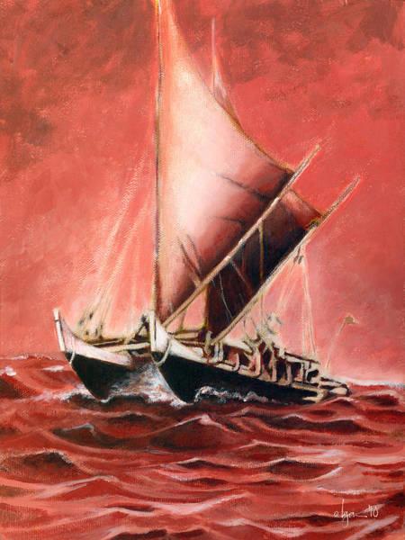 Painting - Hokulea by Angela Treat Lyon