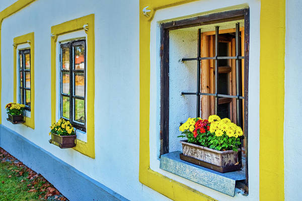 Photograph - Holasovice Windows - Czechia by Stuart Litoff