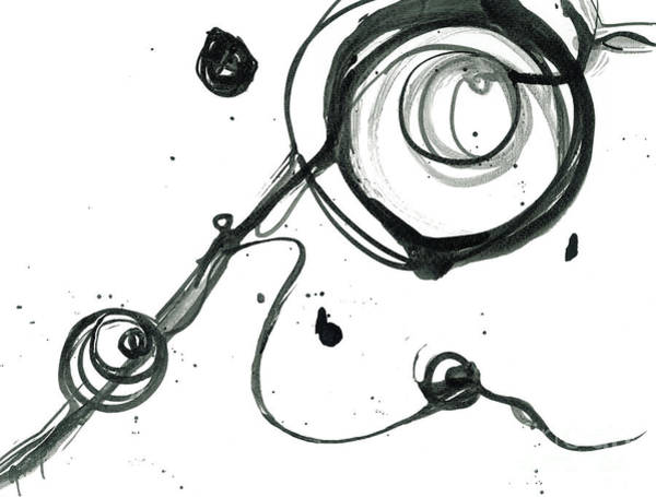 Painting - Hold On - Revolving Life Collection - Modern Abstract Black Ink Artwork by Patricia Awapara