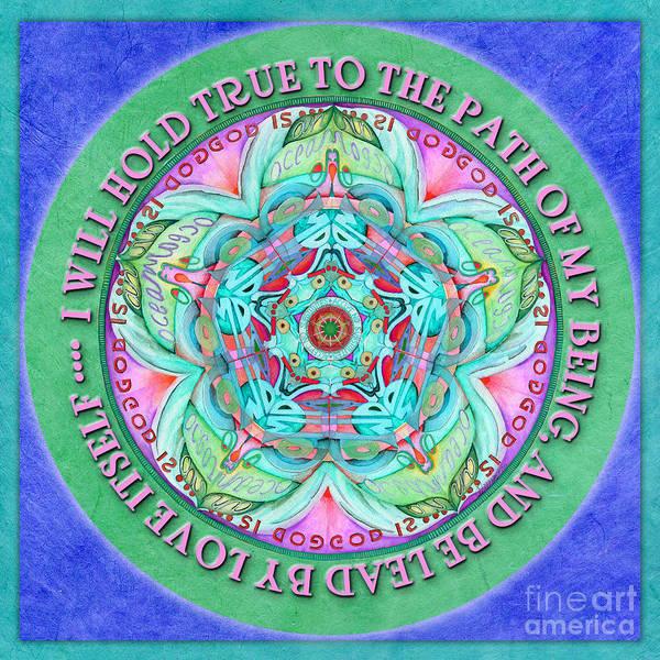Painting - Hold True Mandala Prayer by Jo Thomas Blaine