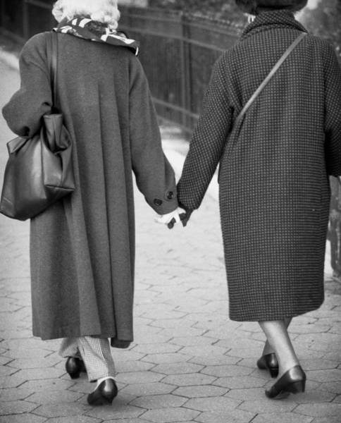 Holding Hands Friends Art Print