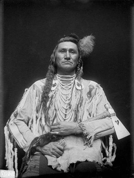 Native American Culture Painting - Holds His Enemy Son Of Pretty Eagle - Crow - 1910 by Celestial Images