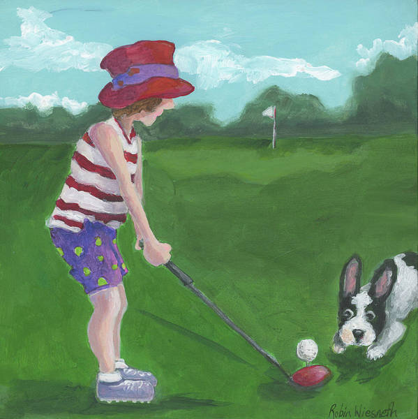 Wall Art - Painting - Hole In One by Robin Wiesneth