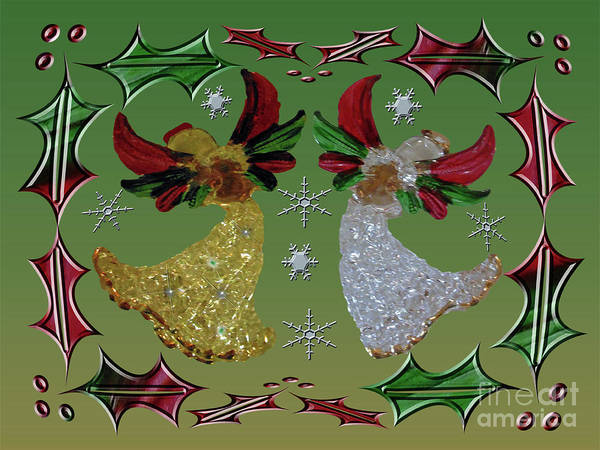 Photograph - Holiday Angels Holly by Rockin Docks Deluxephotos