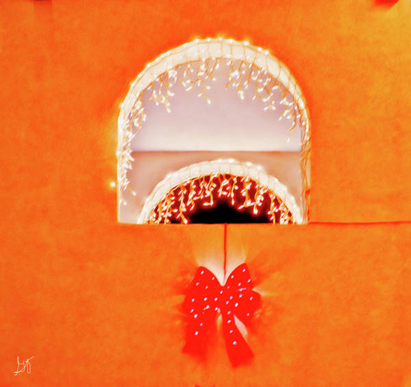 Photograph - Holiday Arch Lights by Gina O'Brien