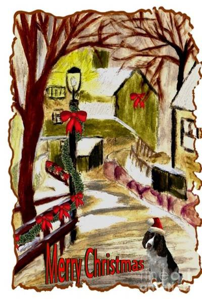 Painting - Holiday Card 02 by Donna Cavanaugh