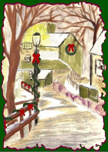 Painting - Holiday Card 03 by Donna Cavanaugh