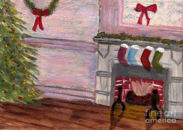 Painting - Holiday Card 04 by Donna Cavanaugh