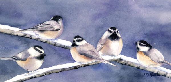 Painting - Holiday Chickadees by Marsha Karle