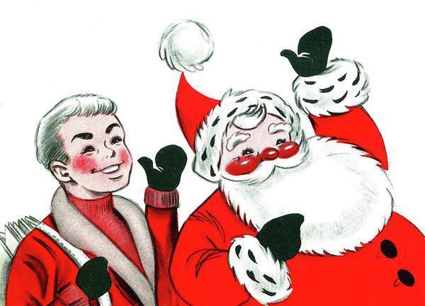 Santa Mixed Media - Holiday Greetings by Long Shot